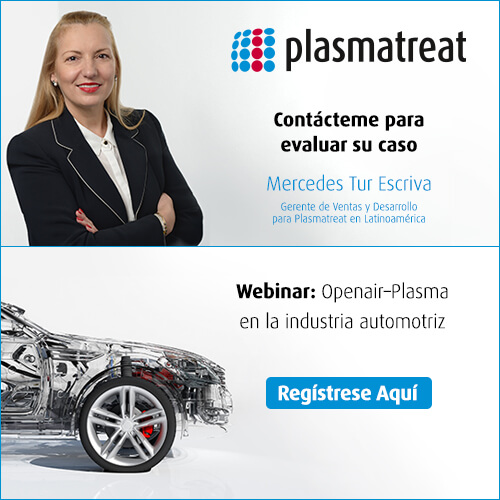 Webinar: Openair-Plasma en la industria automotriz Regístrese aquí - Plasmatreat