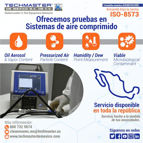 Ofrecemos pruebas de sistemas en aire comprimido - Techmaster