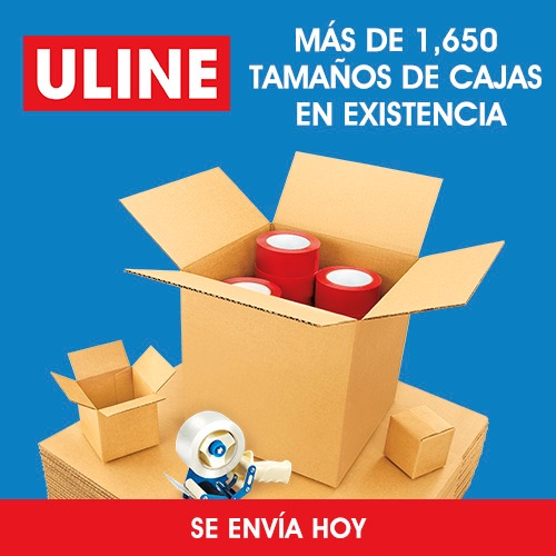 ULINE - Mas de 1650 tamaños de cajas en existencia - Se envía HOY
